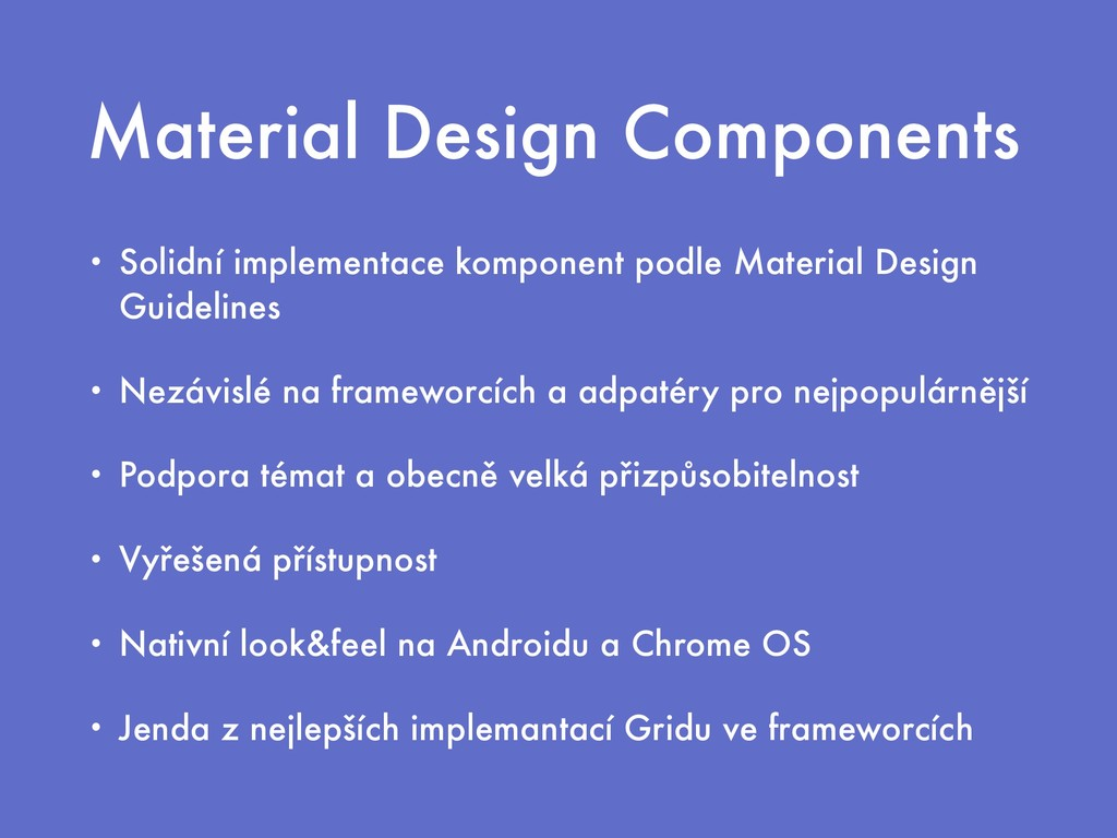 Material Design Components • Solidní implementa...