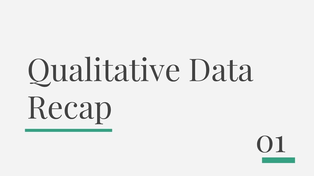 Qualitative Data Recap 01