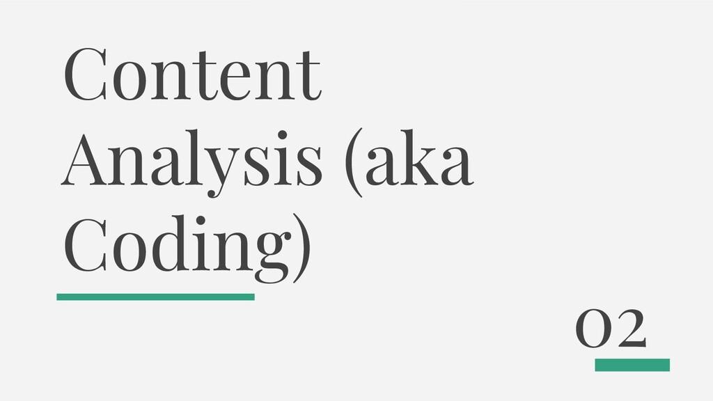 Content Analysis (aka Coding) 02