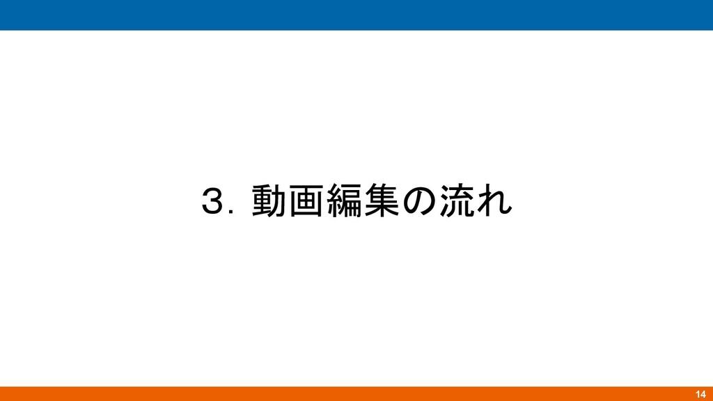 14 3.動画編集の流れ