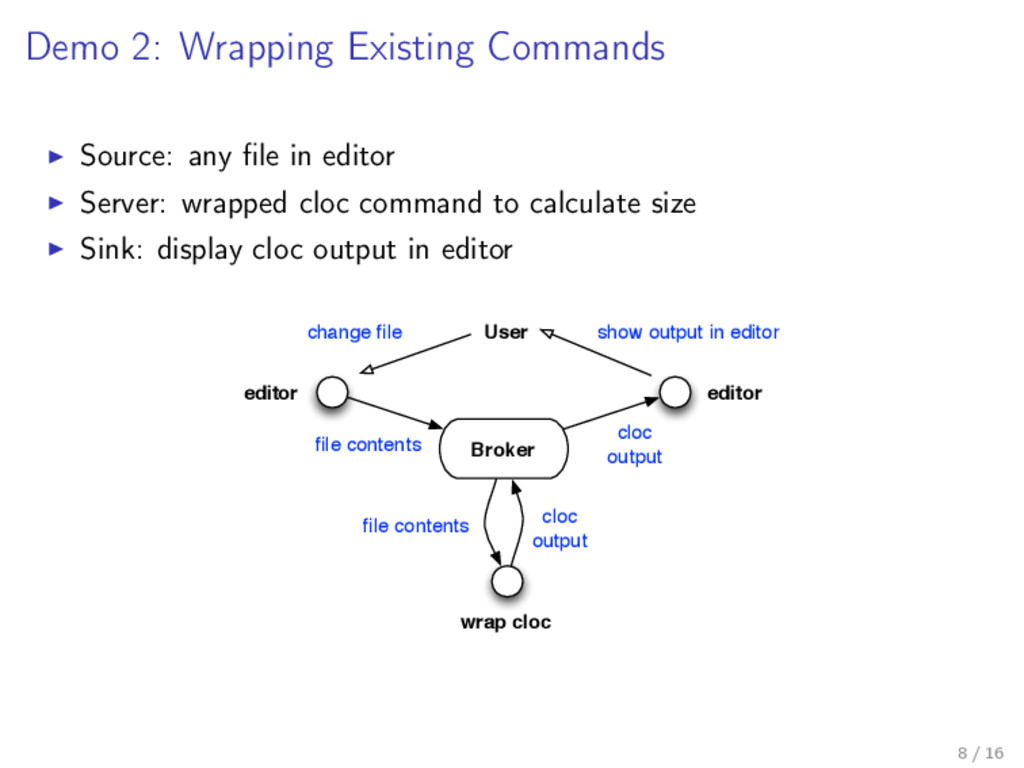 Demo 2: Wrapping Existing Commands Source: any ...