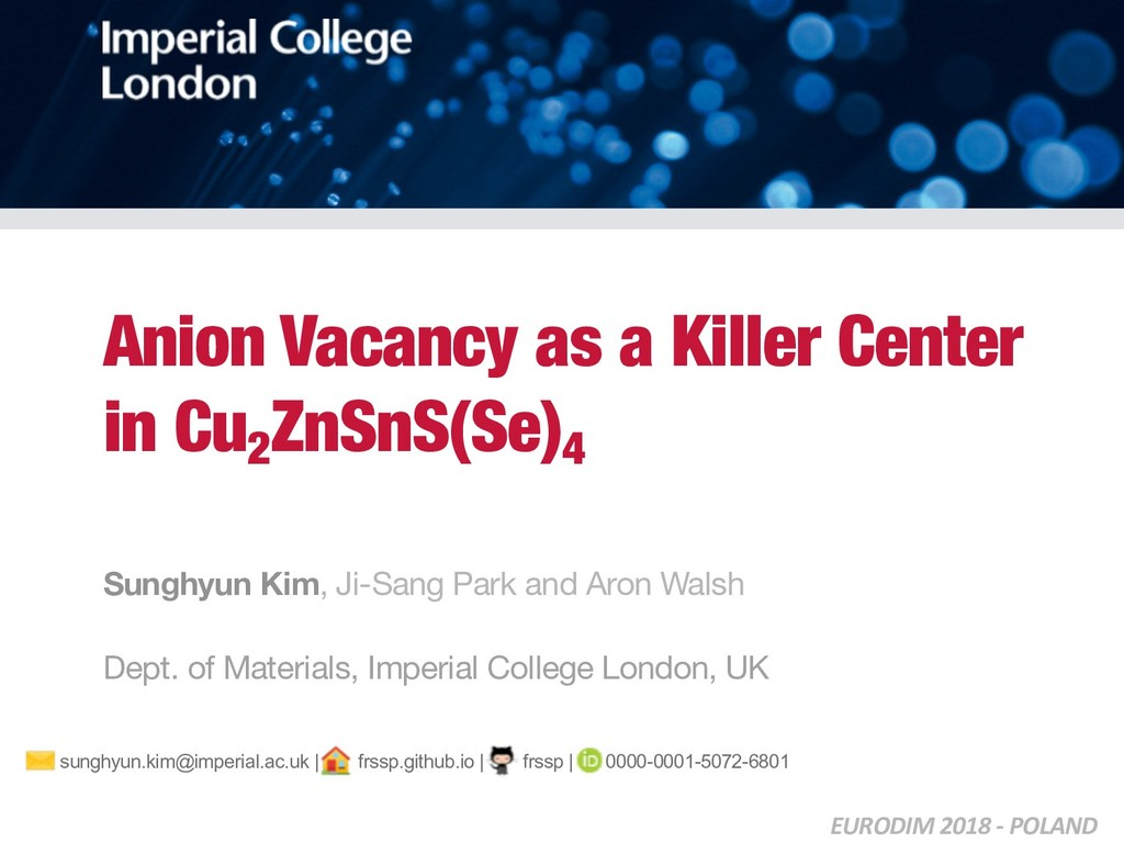 Anion Vacancy as a Killer Center in Cu2 ZnSnS(S...