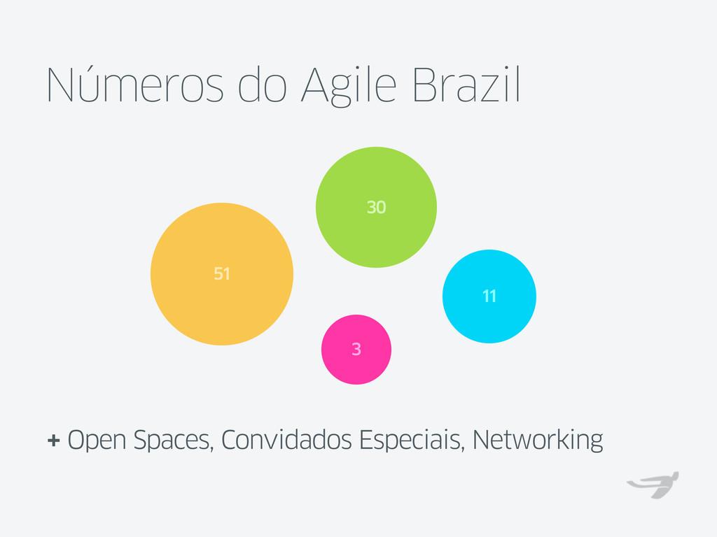 Números do Agile Brazil + Open Spaces, Convidad...