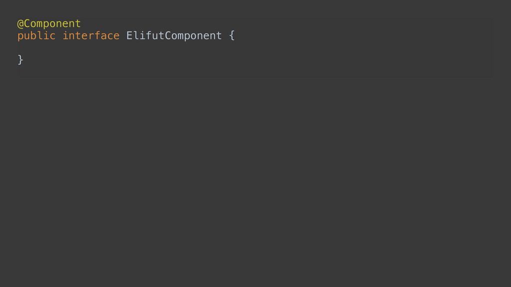 @Component public interface ElifutComponent {...