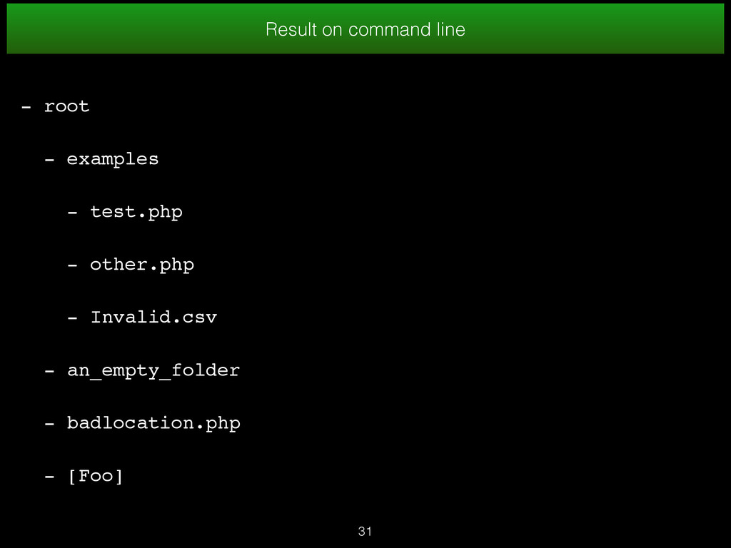 31 Result on command line - root - examples - t...