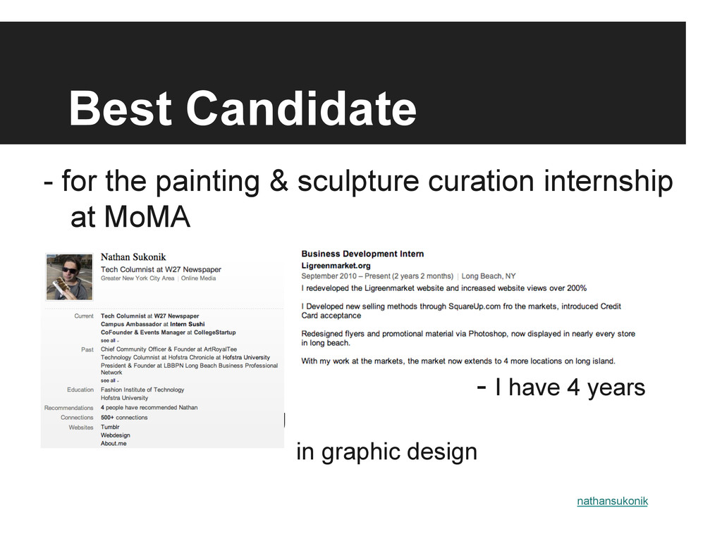 Best Candidate - for the painting & sculpture c...