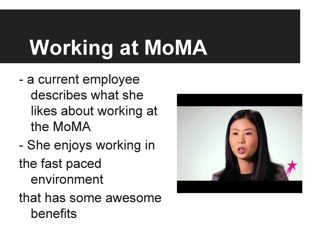 Working at MoMA - a current employee describes ...