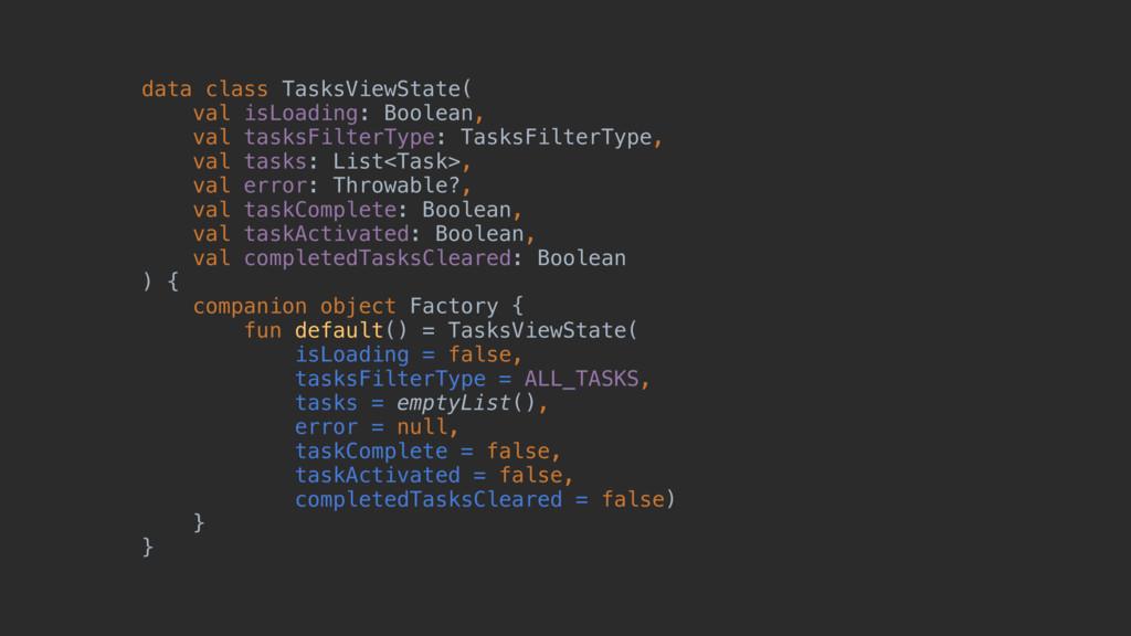 data class TasksViewState(z val isLoading: Bool...