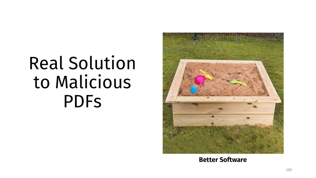 Real Solution to Malicious PDFs 100 Better Soft...