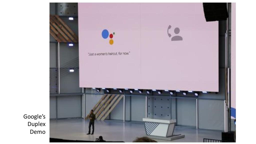 Google's Duplex Demo
