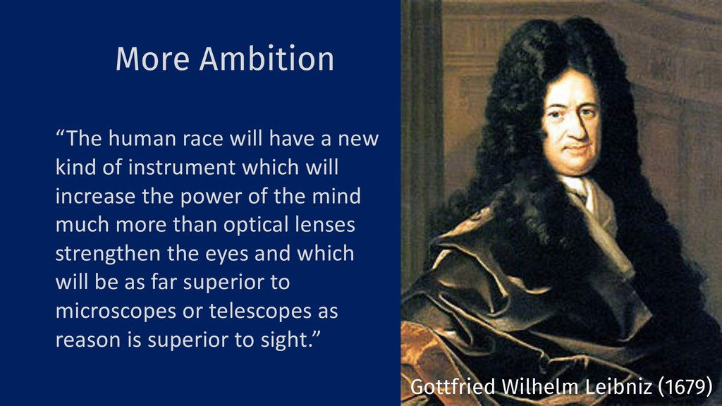 "More Ambition 19 ""The human race will have a ne..."