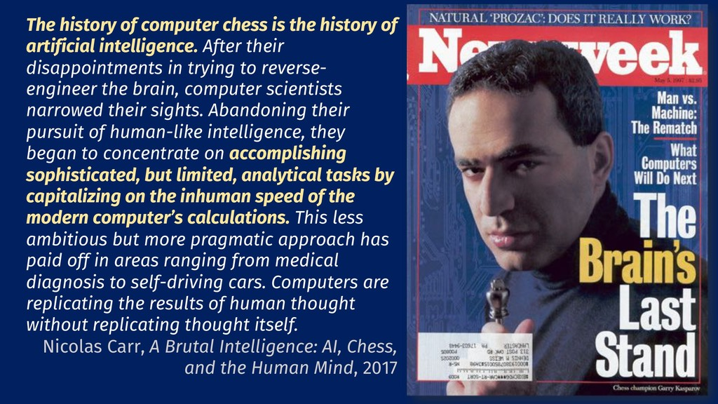 23 The history of computer chess is the history...