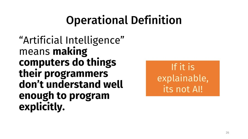 "Operational Definition ""Artificial Intelligence..."