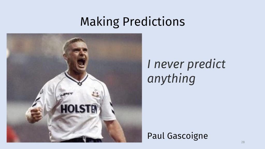 Making Predictions 28 Paul Gascoigne I never pr...