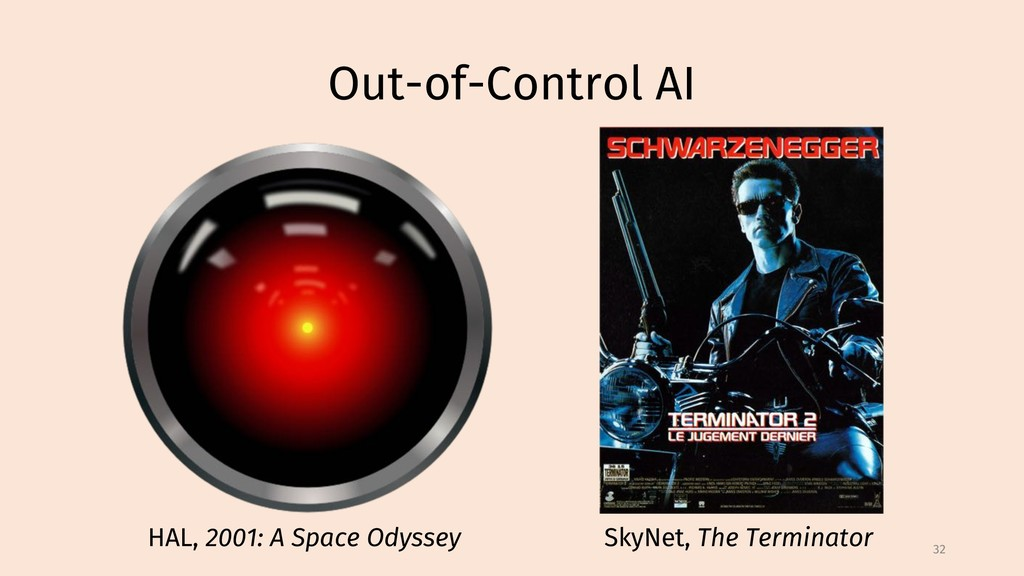Out-of-Control AI 32 HAL, 2001: A Space Odyssey...