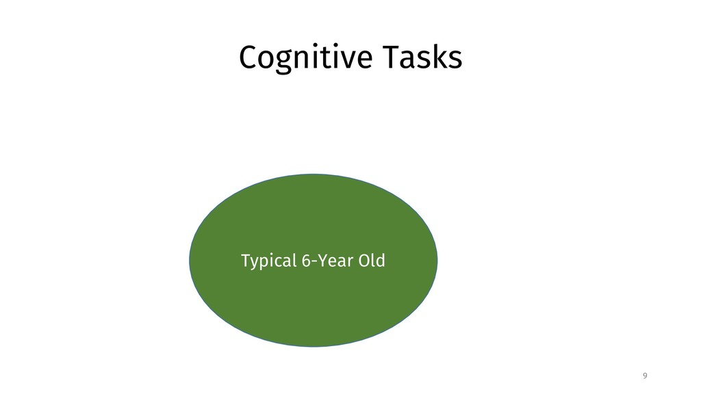 Cognitive Tasks 9 Typical 6-Year Old