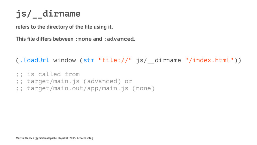 js/__dirname refers to the directory of the file...