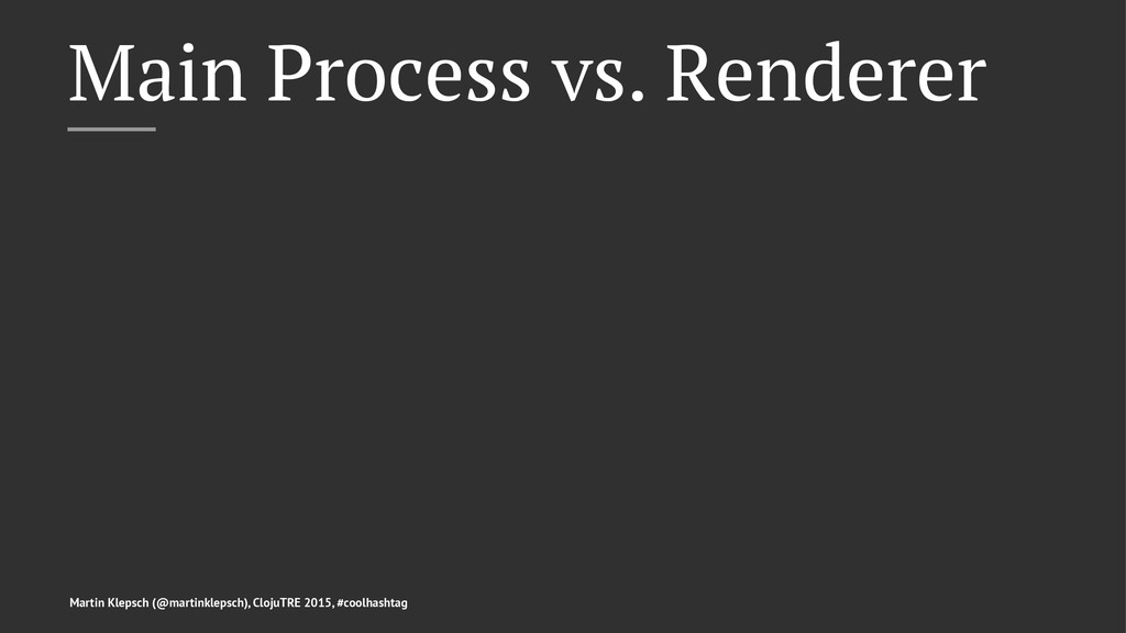 Main Process vs. Renderer Martin Klepsch (@mart...