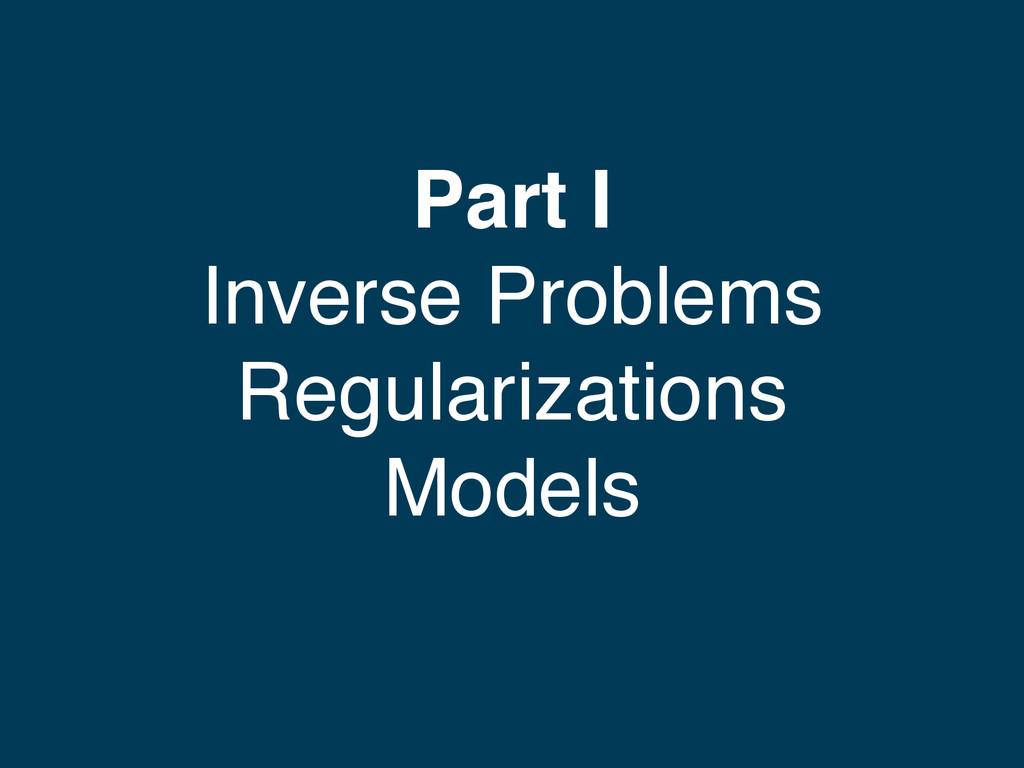 Part I Inverse Problems Regularizations Models