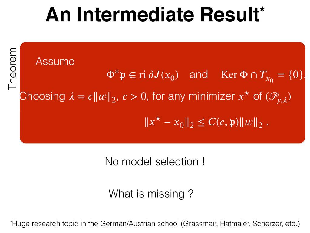 An Intermediate Result* Theorem Assume ʇ҄ઐ ѵ sj...