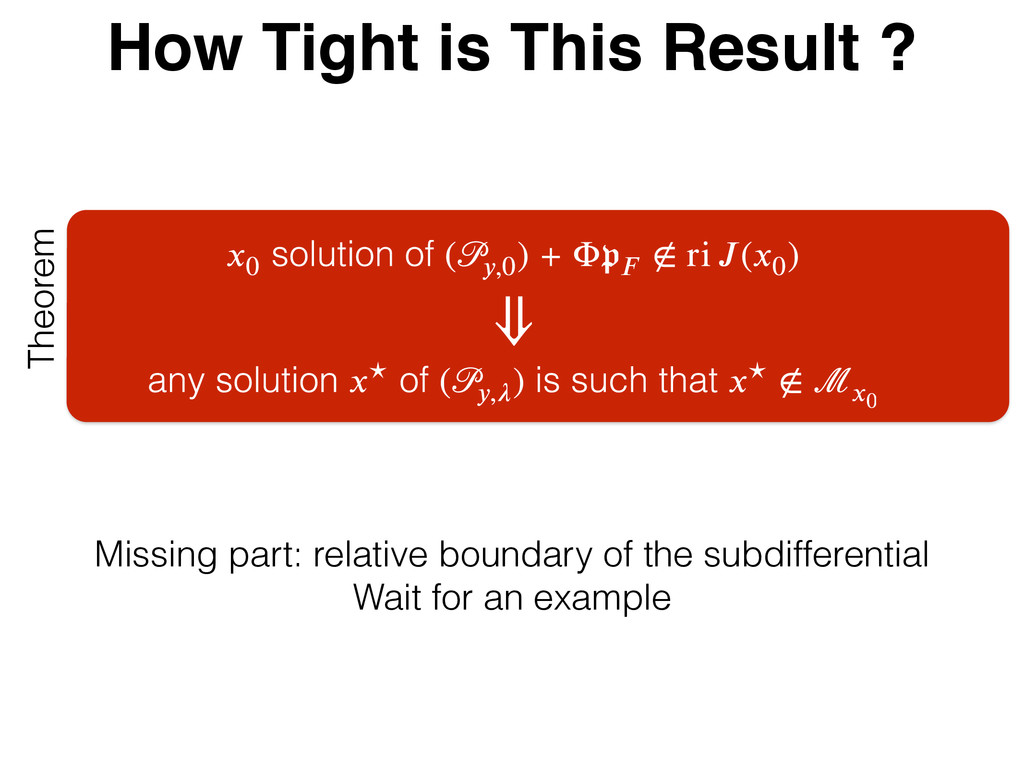 How Tight is This Result ? Theorem Missing part...