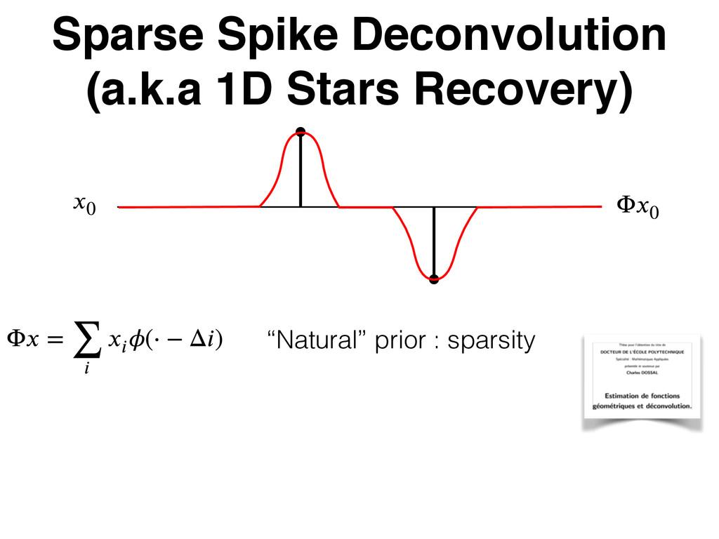 Sparse Spike Deconvolution (a.k.a 1D Stars Reco...