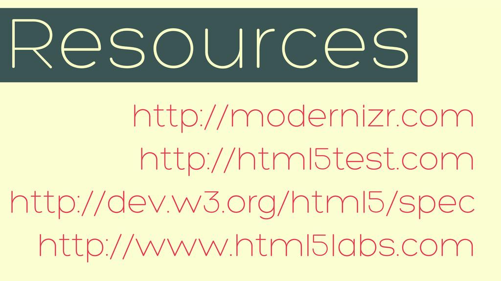 http://modernizr.com http://html5test.com http:...