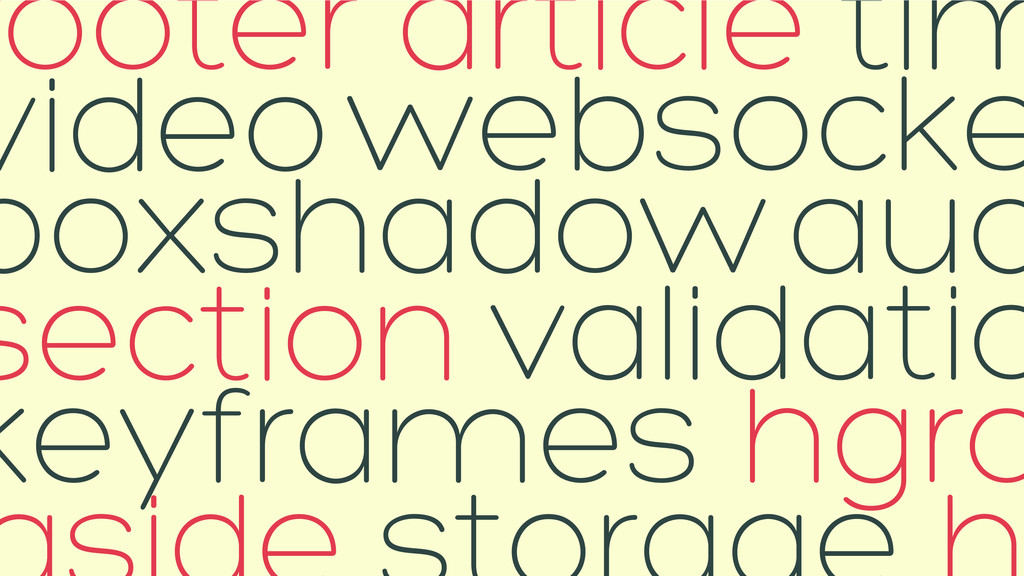 section hgro footer article websocke keyframes ...