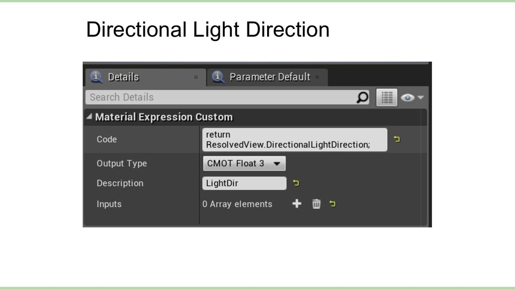 Directional Light Direction