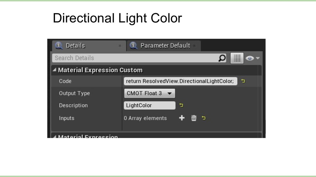 Directional Light Color