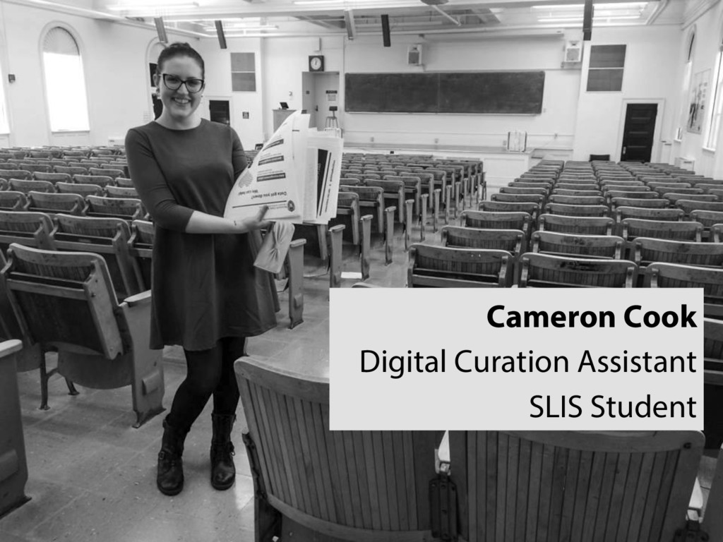 Cameron Cook Digital Curation Assistant SLIS St...