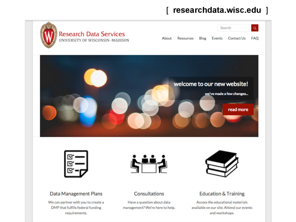 [ researchdata.wisc.edu ] AUGUST 2015