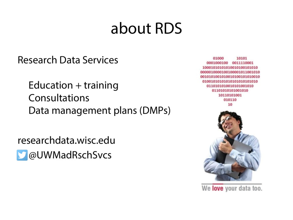 about RDS Research Data Services •  Education +...