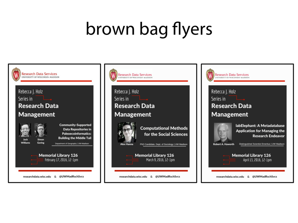 brown bag flyers