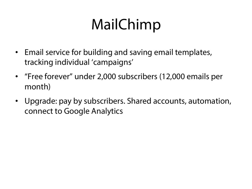 MailChimp •  Email service for building and sav...