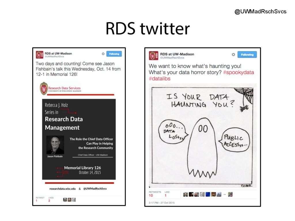 RDS twitter @UWMadRschSvcs