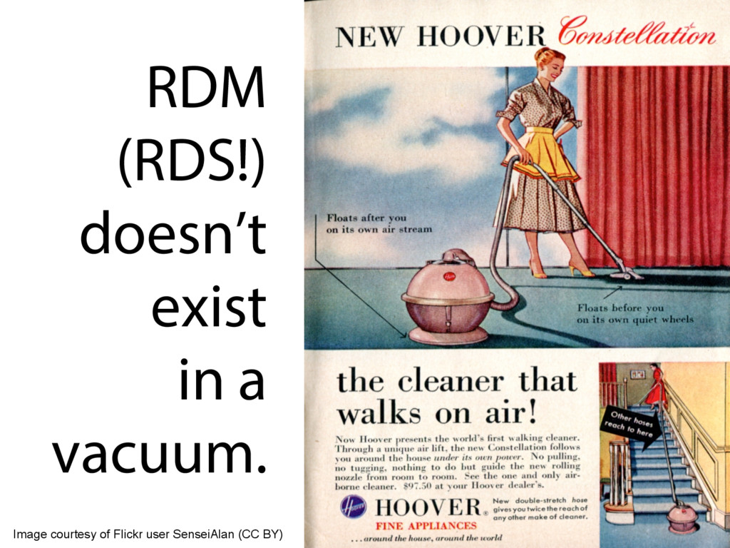 RDM (RDS!) doesn't exist in a vacuum. Image cou...