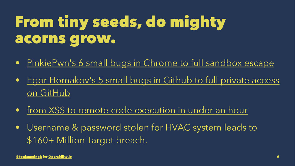 From tiny seeds, do mighty acorns grow. • Pinki...