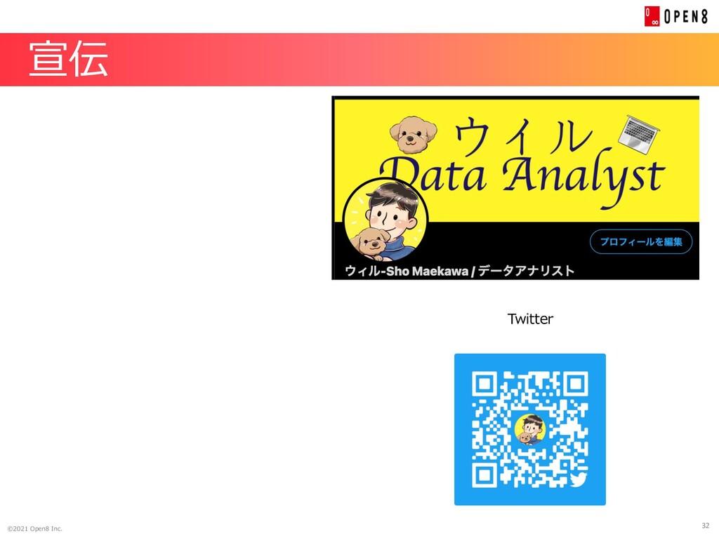 32 ©2021 Open8 Inc. 宣伝 Twitter