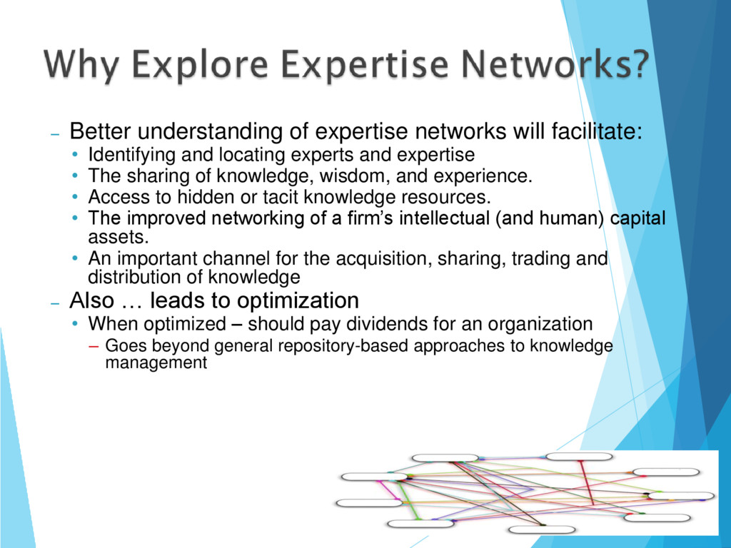 – Better understanding of expertise networks wi...