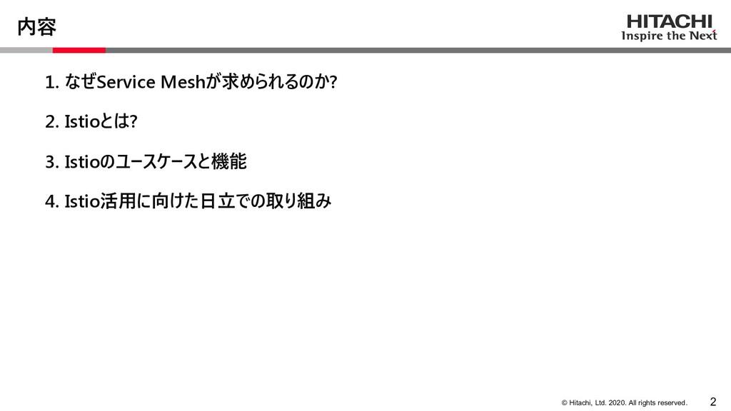© Hitachi, Ltd. 2020. All rights reserved. 内容 1...