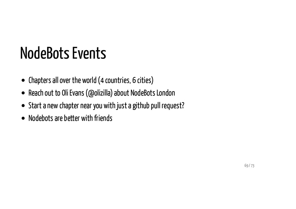 NodeBots Events Chapters all over the world (4 ...