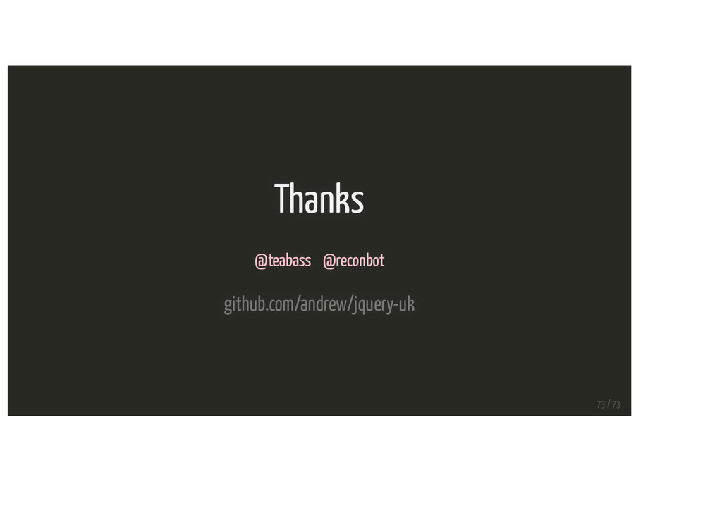 Thanks @teabass @reconbot github.com/andrew/jqu...