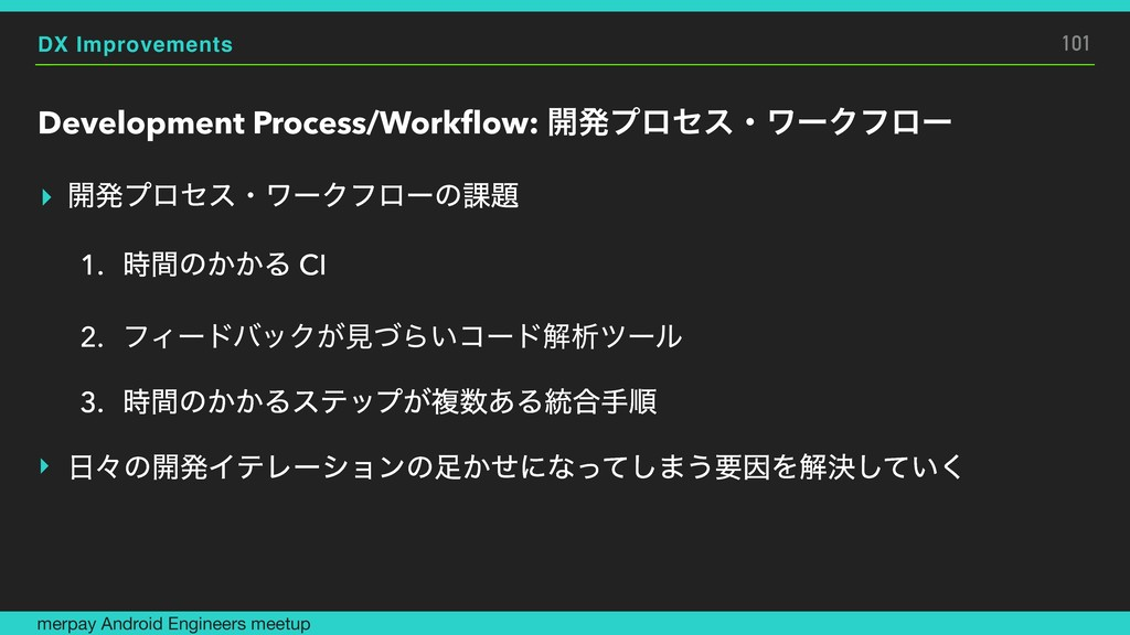DX Improvements Development Process/Workflow: ։ൃ...