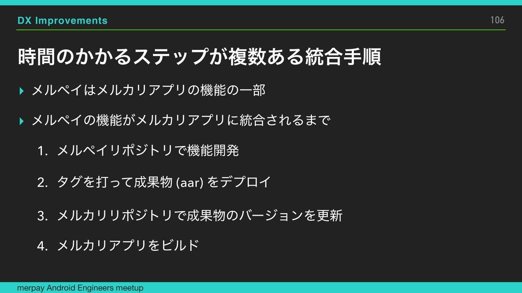 DX Improvements ؒͷ͔͔Δεςοϓ͕ෳ͋Δ౷߹खॱ ▸ ϝϧϖΠϝϧΧϦ...