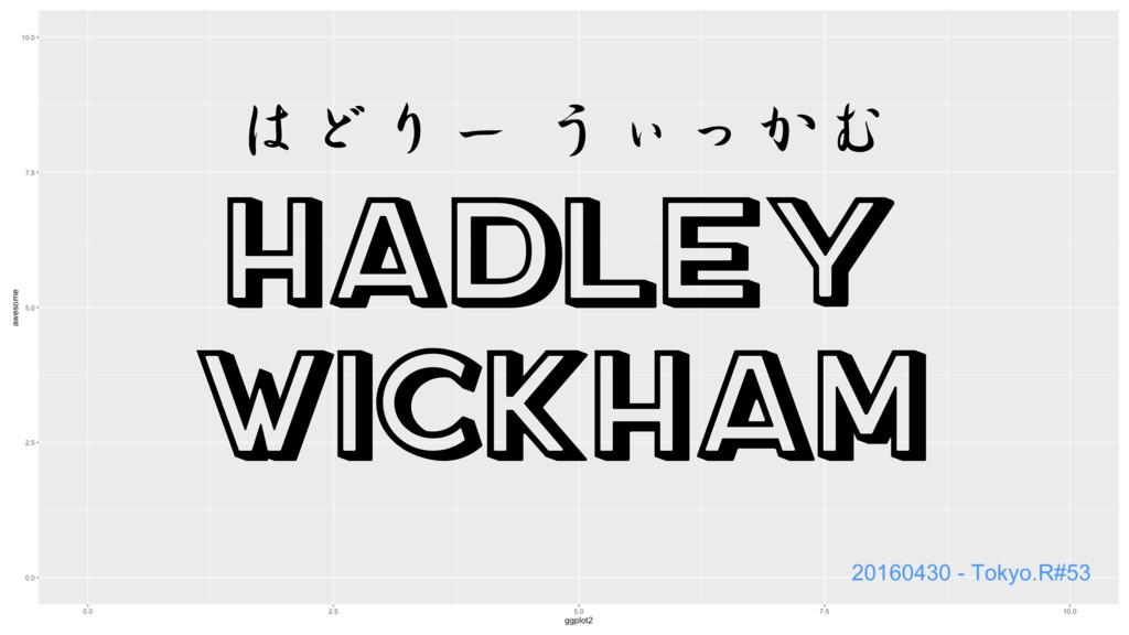 Hadley Wickham はどりー うぃっかむ