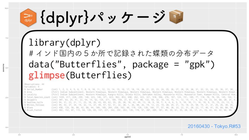 "library(dplyr) data(""Butterflies"", package = ""g..."