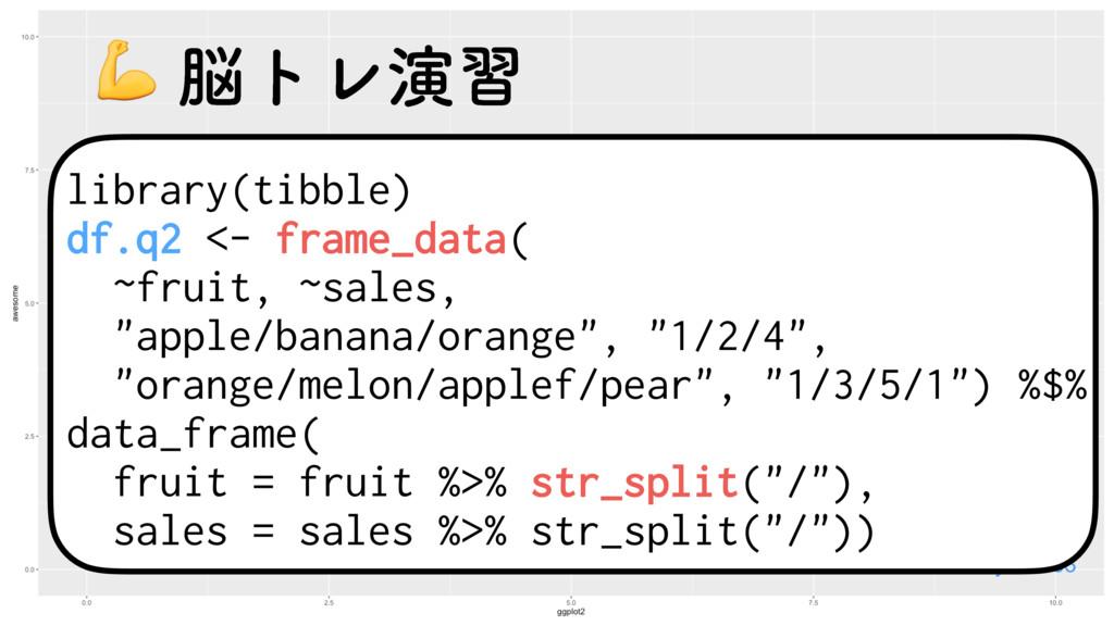 library(tibble) df.q2 <- frame_data( ~fruit, ~s...
