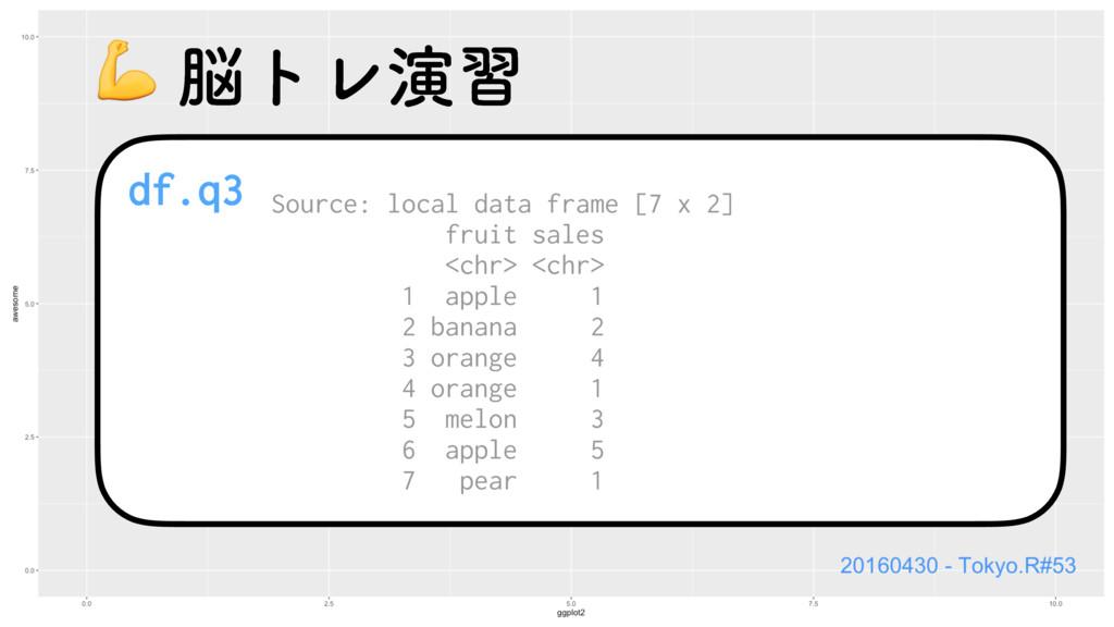 df.q3 Source: local data frame [7 x 2] fruit sa...