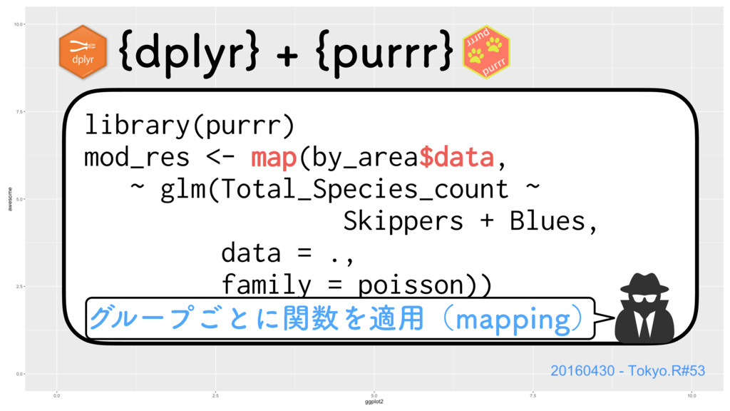 library(purrr) mod_res <- map(by_area$data, ~ g...